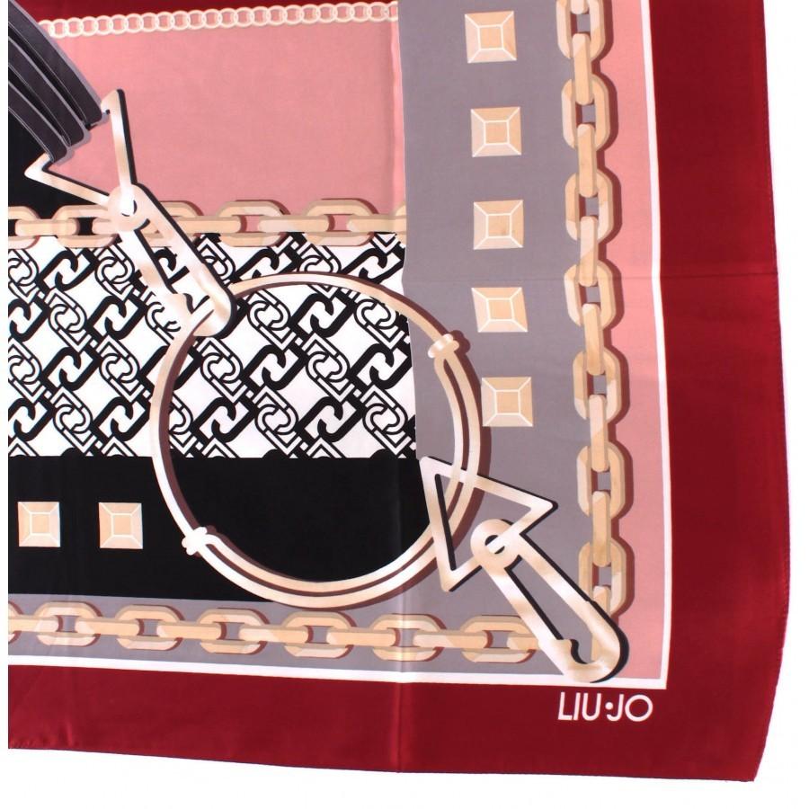 Women's Scarf Foulard LIU JO 2A0055 T0300 Ciliegia Polyester Red