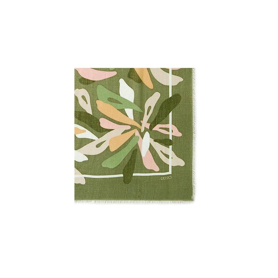 Women's Scarf Foulard LIU JO 2A0007 T0300 Vert Mil Polyester Green