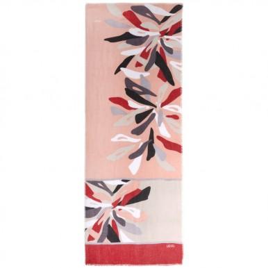 Women's Scarf Foulard LIU JO 2A0060 T0300 Cameo Rose Polyester Pink
