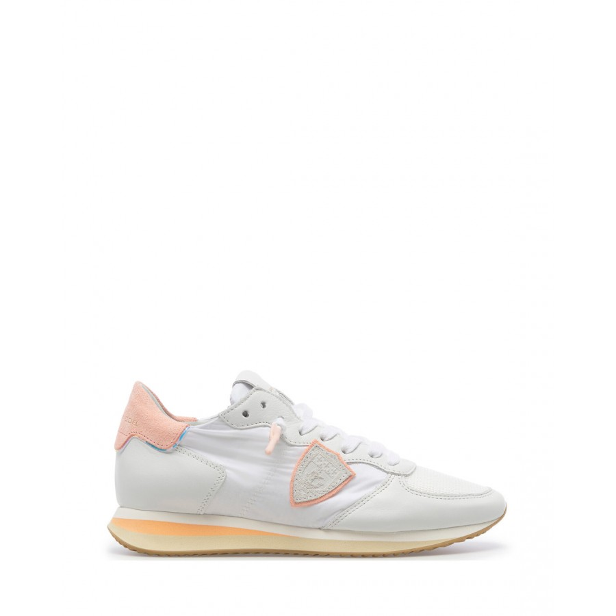 Women's Sneakers PHILIPPE MODEL TZLD WIP2 Pastel Blanc Suede Synthetic White