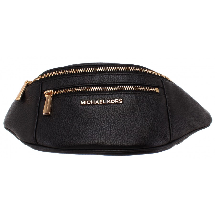 Sac ceinture femme michael kors 30s9goxn6l cuir noir