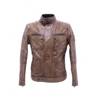 Men's Jackets BELSTAFF Weybridge 71020874 Burnished Gold Leather Brown
