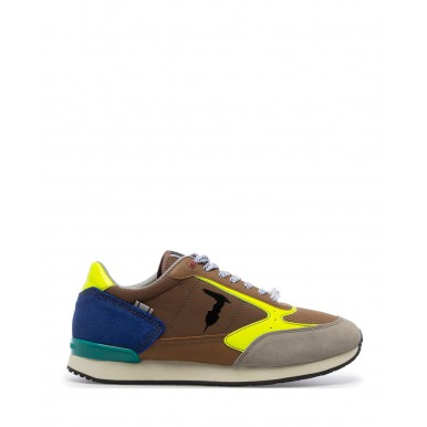 Men's Sneakers Shoes TRUSSARDI Fast Mix Beige Synthetic Brown