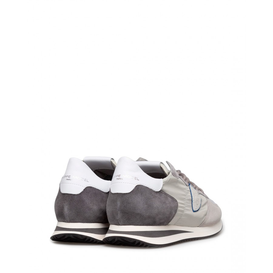 Men's Sneakers PHILIPPE MODEL Tzlu W058 Gris Anthracite Suede Fabric Gray