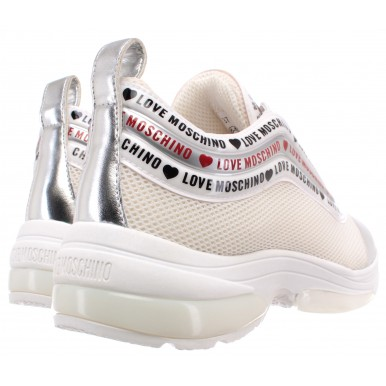 Women's Sneakers LOVE MOSCHINO JA15135G1AIP310A Synthetic White Gray