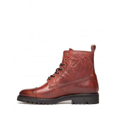 Men's Ankle Boots BELSTAFF 77800270 Alperton Whiskey Leather Red Bordeaux