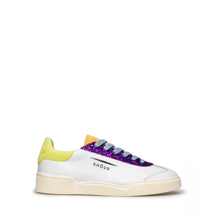 Women's Shoes Sneakers GHOUD Venice L1LW LS01 Wht Lime Leather White