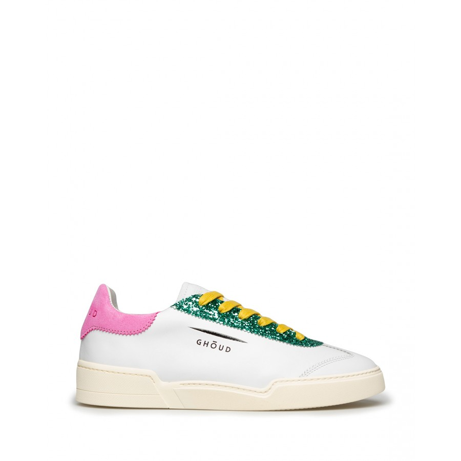 Women's Shoes Sneakers GHOUD Venice L1LW LS02 Wht Pink Leather White